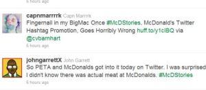 Campanha do Mc Donalds no Twitter não gera um efeito lá muito positivo…